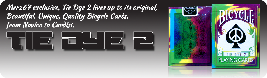 Tie Dye 2 Second generation Collectible Bicycle Playing Cards merz67 exclusive