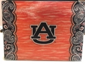 Auburn NCAA Glass Cutting Board by Cumberland Designs, Artwork by Kate McRostie