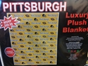 Pittsburgh Steelers Luxury Plush Blanket Queen size football black and yellow