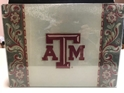 Texas A & M NCAA Glass Cutting Board by Cumberland Designs, Artwork by Kate McRostie