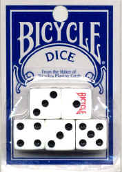 Bicycle Dice set of 5 Die 5 Regular Dice Die Bicycle Brand Playing Cards Normal