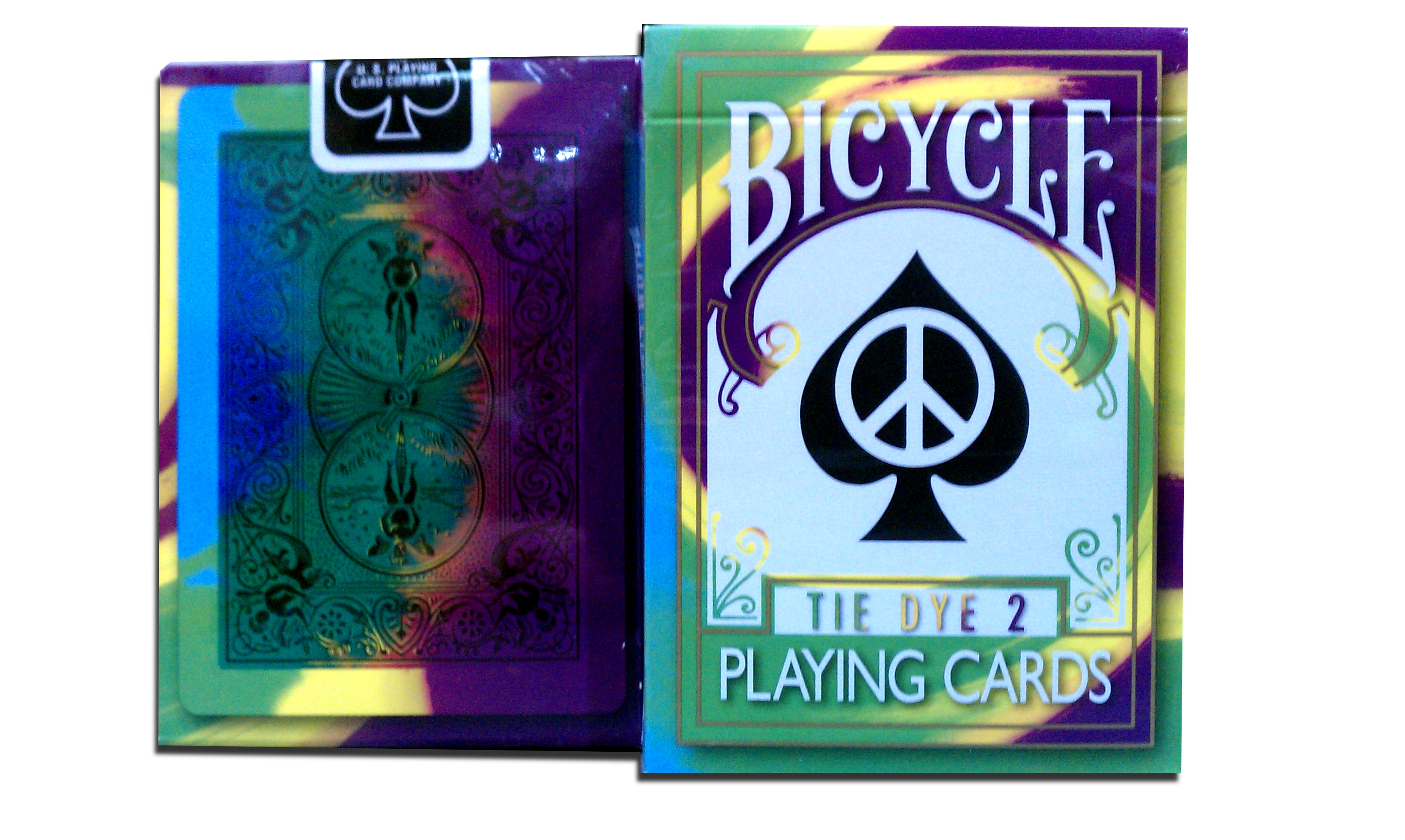 2nd Edition Bicycle Tie Dye 2 Playing Cards Magic collectible playing cards, merz67 exclusives