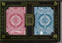 KEM Arrow Red Blue Poker Size Regular index Playing Cards 2 Decks 100% Plastic KEM Arrow Red Blue  Poker Size Regular index Playing Cards 2 Decks 100% Plastic bicycle