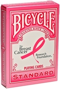 Bicycle Ribbon Back Breast Cancer Playing Cards