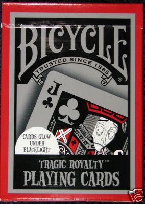 Bicycle Tragic Royalty Glowing Playing Cards Bicycle Tragic Royalty Glowing Playing Cards