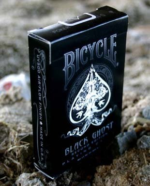 Bicycle Black Ghost Playing Cards Deck - 2nd Edition Custom Cards by Ellusionist ellusionist black gost, magic cards, collectible playing cards