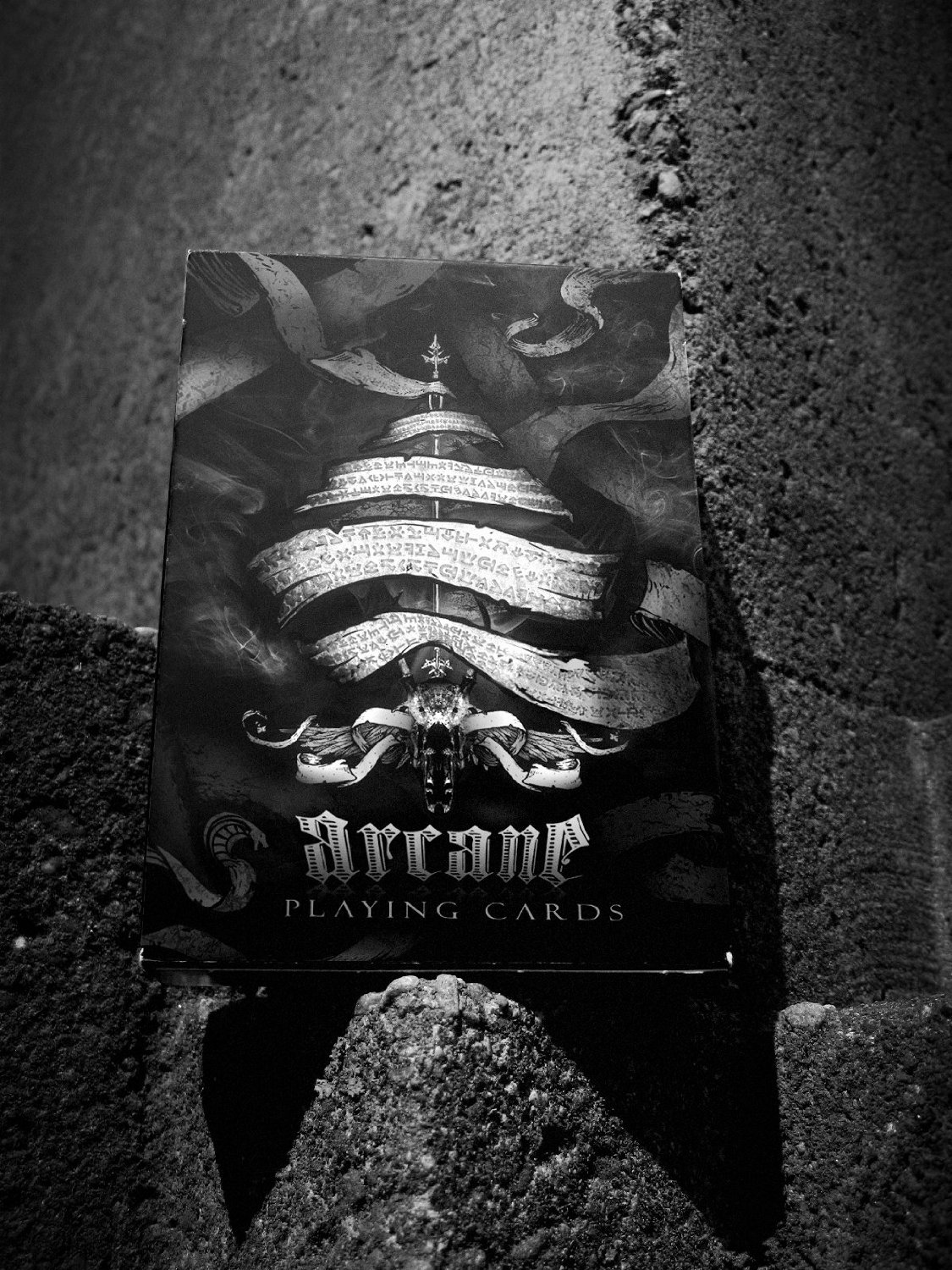 Arcane Playing Cards (Black Deck) by Ellusionist ellusionist playing cards, magic cards, collectible cards