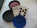 Round 4 Piece Card Holders with Black Carrying Storage Case Round 4 Piece Card Holders with Black Carrying Storage Case Playing Cards games fun