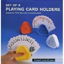 Triangle Playing Card Holders Set of 4 Triangle Playing Card Holders Set of 4