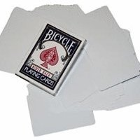 Bicycle Double Blank Deck Magic Cards
