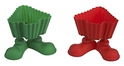 Ganz Silicone Christmas Tree Shaped Cupcake Mold with Feet Red and Green (Set of 12)
