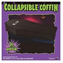 Fun World Mens Collapsible Coffin Halloween Decoration, Black, Standard