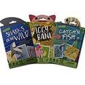 HOYLE KIDS CARD GAMES 3 PACK, SHARKS ARE WILD, CATCHN FISH AND PIGGY BANK