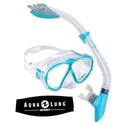 Phantom LX/Palau LX Snorkel Combo with Strap Cover Ladies- Aqua