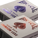 Metalluxe Metal Luxe Crimson and Cobalt Rider Back Bicycle Playing Cards (2 Pack one each color)