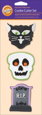 Wilton Cookie Cutter Set, Haunted Halloween, 3/Pack