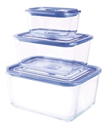 10-Piece Premier Rectangular Food Storage Containers with Vacuum Seal Lids