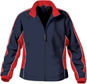 Stormtech Youth Jacquard Track Jacket in Navy Red & White Size Youth X-Large