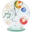 """Joy"" Round Desk Clock, 6.75"""