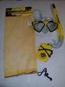 Aqua Lung Cozumel III/Fiji Mask/Eco Jr. Snorkel Asst Yellow With Waterproof ID Holder