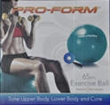 PRO-FORM 65cm. Exercise Ball with workout DVD and hand pump