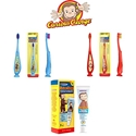Curious George Toothpaste and Toothbrushes