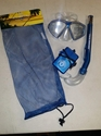 Aqua Lung Santa Cruz Jr. Mask/Eco Jr. Snorkel Asst Blue With Waterproof ID Holder