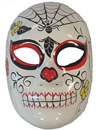 Day of the Dead Spiderweb Full Mask