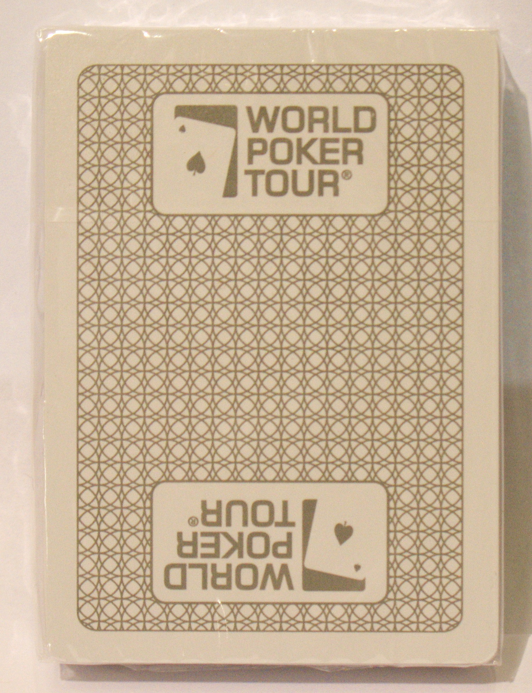 WPT Kem Silver World Poker Tour Deck Playing Cards Poker Size Regular Index