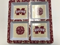 Mississippi State NCAA Glass Cutting Board by Cumberland Designs, Artwork by Kate McRostie