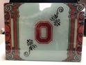 Ohio State NCAA Glass Cutting Board by Cumberland Designs, Artwork by Kate McRostie
