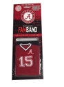Fan Band Alabama Crimson Tide Wristband FanBand Fan Bands Sweatbands Football