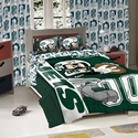 Disney Mickey Mouse NFL New York Jets Character Comforter and Sham Twin Set NY