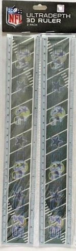 Dallas Cowboys 3-D (2) Pack Ruler School