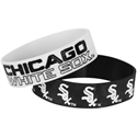 New MLB Chicago White Sox Bulky Bandz Braclet 2 Pack