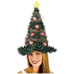 Fun World Light Up Christmas Tree Hat Accessory Multi-Colored Standard Size