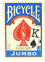Bicycle 808 Rider Back Jumbo Index Blue Playing Cards