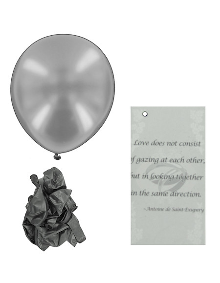 Silver Wedding Balloon Release Cards Silver Wedding Balloon Release Cards