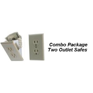 Wall Outlet Safe Combo Order - Two per Order Wall Outlet Safe Combo Order - Two per Order