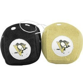 "Pittsburgh Penguins 3"" Fuzzy Dice Pittsburgh Penguins 3"" Fuzzy Dice car auto nhl"