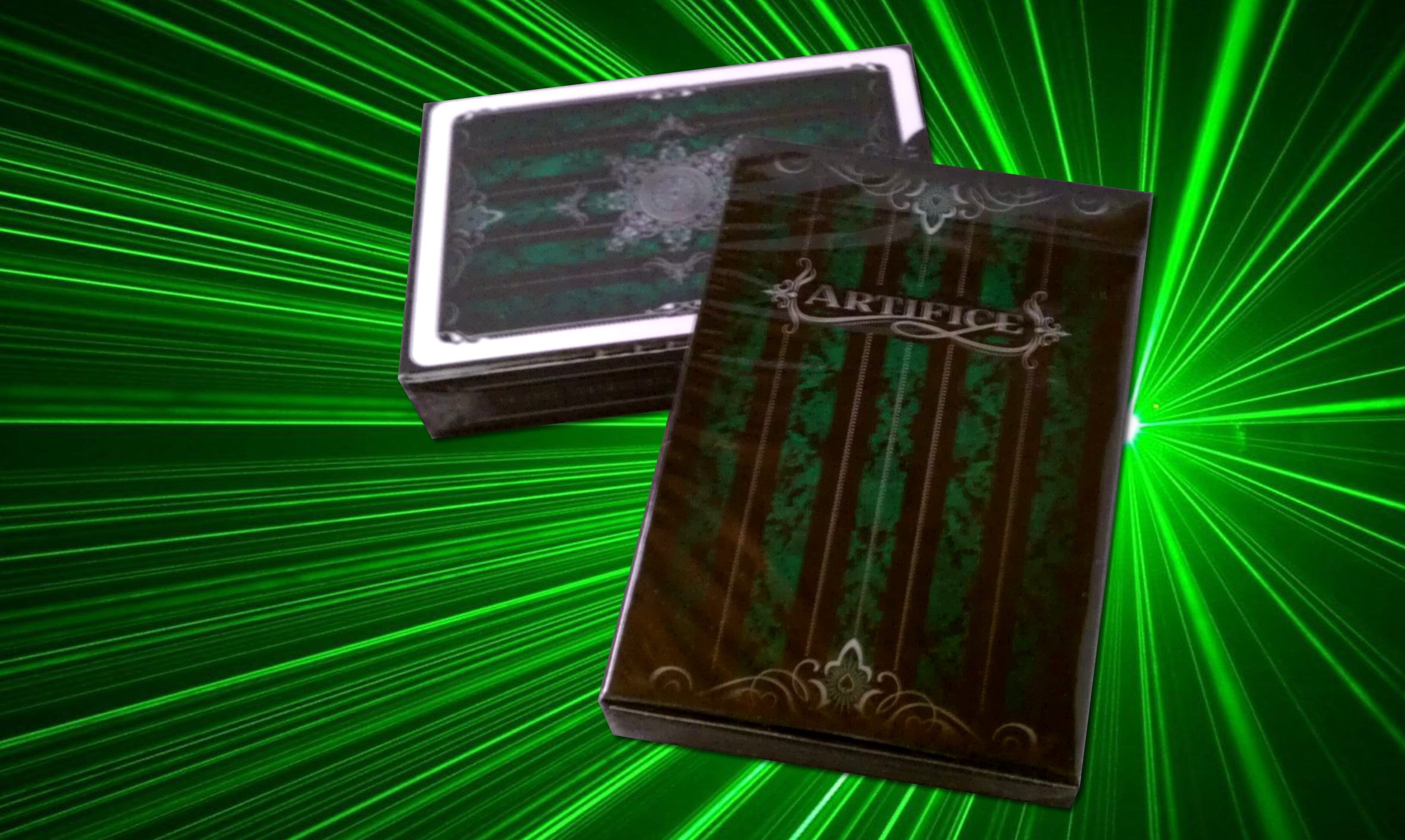Artifice Deck - Performance Coated Playing Cards (2nd Edition) by Ellusionist - Emerald Green magic playing cards