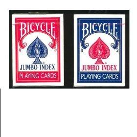 2 Decks Poker Playing Cards, Jumbo Index Bicycle