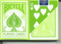 Bicycle 808 Rider Back Light Green Playing Cards