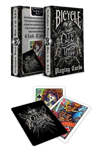Bicycle Club Tattoo Deck Playing Cards Collectilble Deck collectible playong cards, buy playng cards