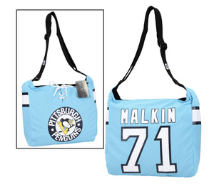Pittsburgh Penguins Evgenil Malkin #71 Jersey Tote Blue Pittsburgh Penguins Evgenil Malkin #71 Jersey Tote Blue purse nhl hockey