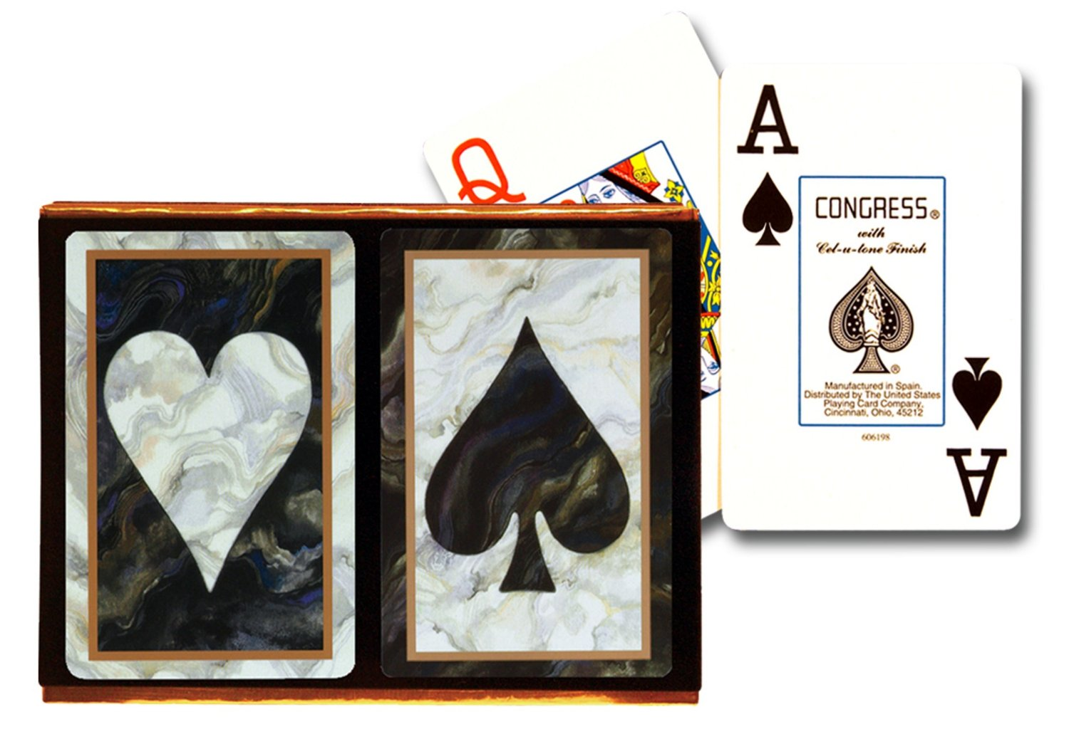 Congress Black Marble Jumbo Index Playing Cards congress bridge cards