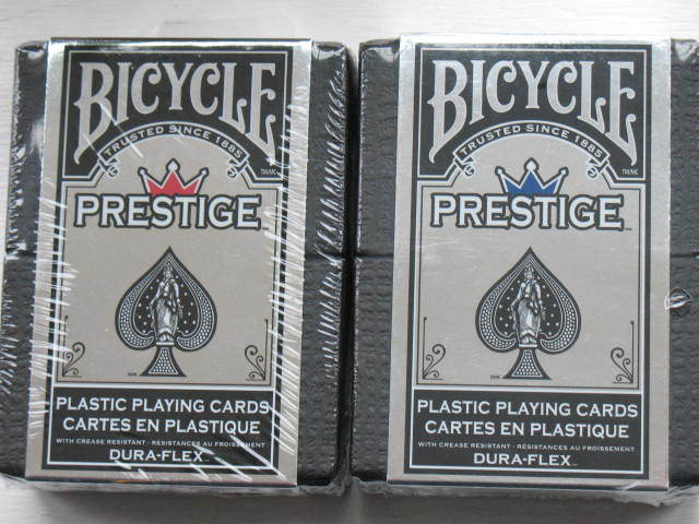 2 Decks  RED BLUE Bicycle Prestige Playing Cards Dura-Flex