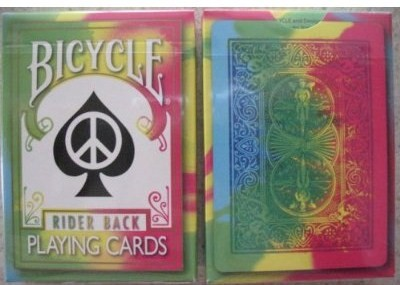 Bicycle Tie Dye Deck Playng Cards tie,dye,bicycle,playing,cards,rare,tie-dye,magic,gaff,deck  Magic Magical Magician Illusion 60s 70s peace love tye die games poker